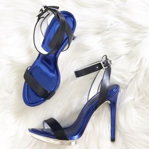 BCBGMaxAzria Finite Ankle Strap High Heeled Sandal